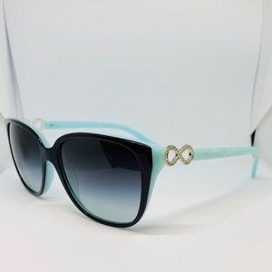 NEW Tiffany & Co. 4111-B Black/Blue Sunglasses